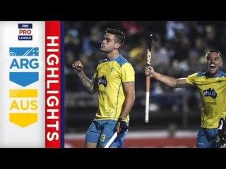 Argentina v Australia | Week 15 | Men's FIH Pro League Highlights