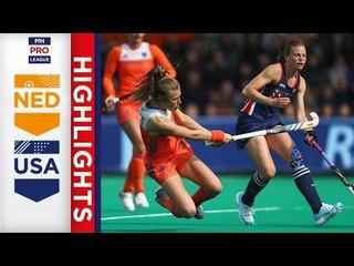 Netherlands v USA | Week 13 | Women's FIH Pro League Highlights