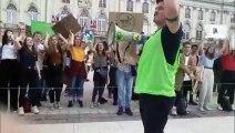 Marche pour le climat à Nancy : fin de manifestation en chorégraphie