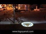 forklift geçiş yollarında dur bak geç logosu fabrika alanlarında gezsin,iş güvenlik cihazı,logo yansıtan projectör,tabela yansıtan projectör