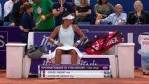 WTA - Strasbourg 2019 - Caroline Garcia prive Chloé Paquet de finale à Strasbourg