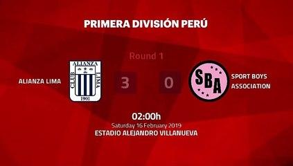 Match report between Alianza Lima and Sport Boys Association Round 1 Apertura Peru - Liga 1