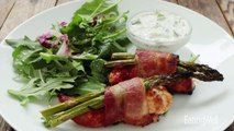 How to Make Bacon-Wrapped Chicken Tenders with Cucumber-Ranch Dressing