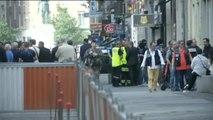 Ocho personas resultan heridas tras la explosión de un paquete bomba en una céntrica calle de Lyon (Francia)