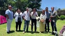 Gustavo Matos, candidato del PSOE al Parlamento de Canarias por Tenerife, se dirige a los trabajadores del HUC