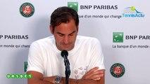 """Roland-Garros 2019 - Roger Federer : """"J'ai beaucoup apprécié Madrid et Rome. L'accueil que j'ai eu aujourd'hui a été fabuleux"""""""