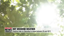 Daytime high on Saturday to reach 35 degrees Celcius in southern Korean cities