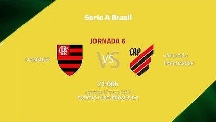 Previa partido entre Flamengo y Athletico Paranaense Jornada 6 Liga Brasileña