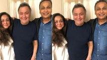 Rishi Kapoor gets a visit from Anil Ambani & Tina Ambani in NYC | FilmiBeat
