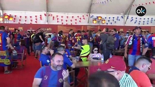 Así estaba la Fan Zone del Barcelona en las horas previas a la final de la Copa del Rey
