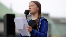 Swedish activist Greta Thunberg addresses climate march in Copenhagen