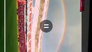 Majestic double rainbow appear  during MLS in salt lake city