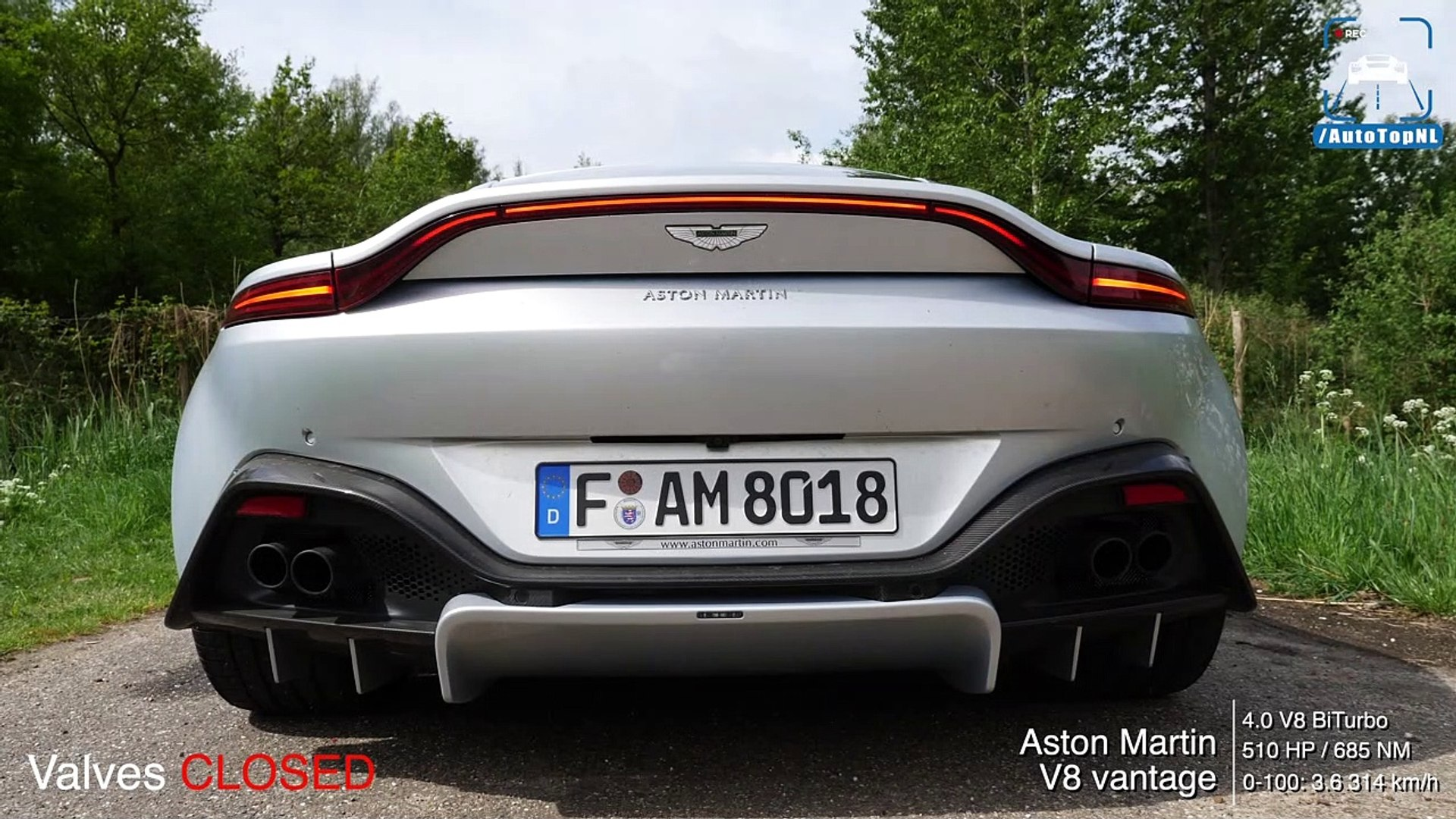 New Aston Martin Vantage V8 Biturbo Loud Exhaust Sound Tunnel Revs Onboard By Autotopnl Dailymotion Video