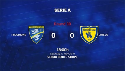 Match report between Frosinone and Chievo Round 38 Serie A