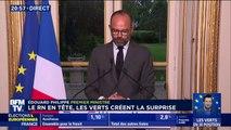 """""""Je ne veux pas banaliser ce résultat de l'extrême-droite"""", réagit Edouard Philippe qui accueille les résultats """"avec humilité"""""""