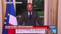 REPLAY - Discours d'Edouard Philippe après les résultats des élections européennes