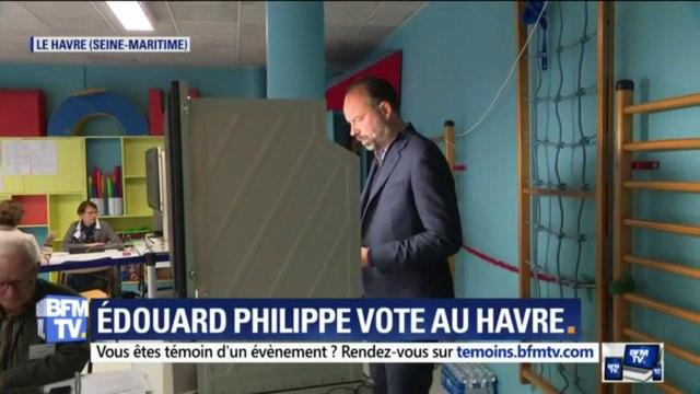 Européennes: Edouard Philippe a voté au Havre