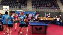 Tennis de table (Pro dames) : la joie des filles d'Etival après leur qualification en finale