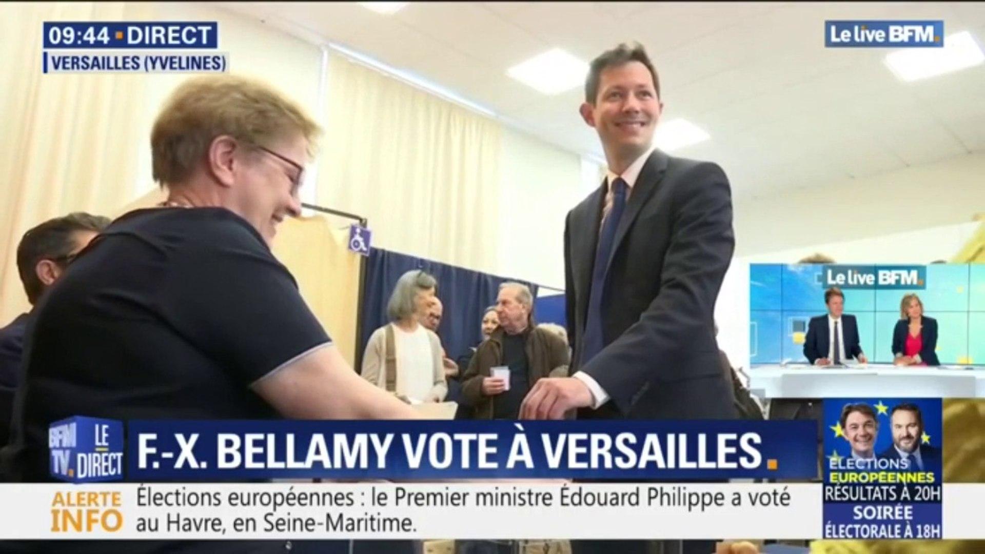 5ebb7312a850b Européennes: François-Xavier Bellamy a voté à Versailles