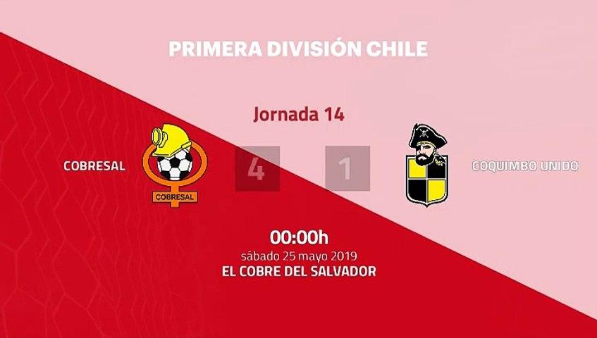 Resumen partido entre Cobresal y Coquimbo Unido Jornada 14 Primera Chile