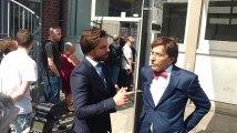 Mons: Quand Elio Di Rupo et Georges-Louis Bouchez se rencontrent au bureau de vote