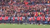 Osasuna celebra ante su afición el ascenso a Primera