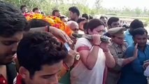 Smriti Irani carries mortal remains of aide who was killed