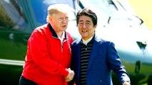 Donald Trump and Shinzo Abe tee off amid US-Japan trade tensions
