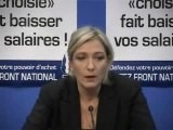 FN - Marine Le Pen sur le Rapport Attali (2)