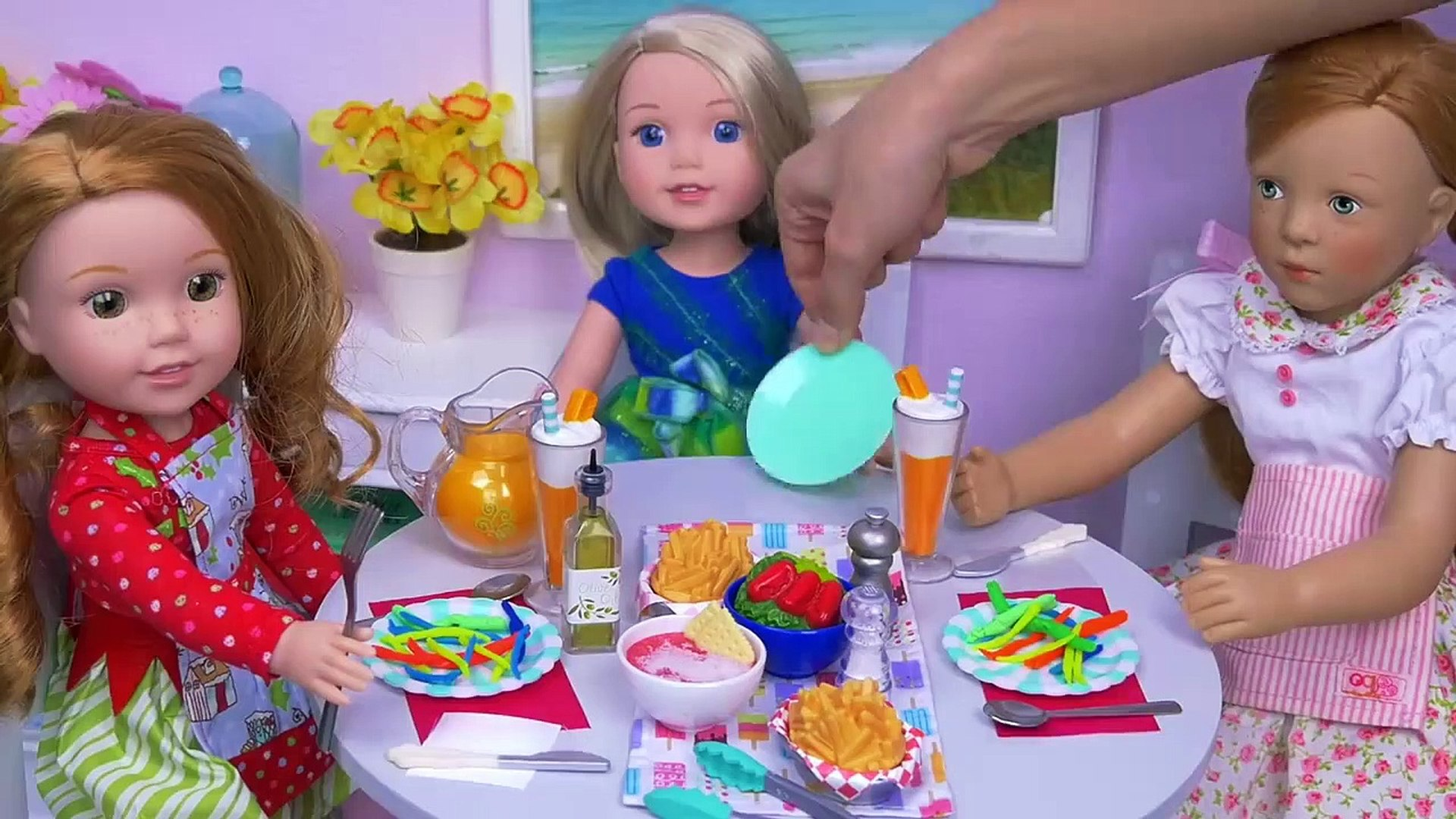 Baby Doll Cooking Play Doh Pasta In Doll Kitchen Toys Play Video Dailymotion