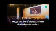 Face au PDG de Carrefour, un actionnaire propose l'abandon des dividendes pour sauver des emplois