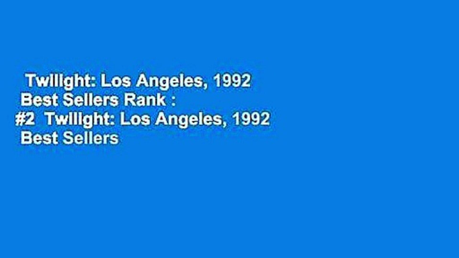 Twilight: Los Angeles, 1992  Best Sellers Rank : #2  Twilight: Los Angeles, 1992  Best Sellers
