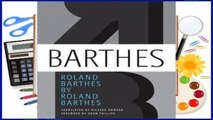 About For Books  Roland Barthes by Roland Barthes  Review