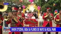 Senior citizens, bida sa Flores de Mayo sa Rizal Park