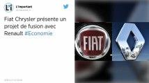 Projet de fusion entre Renault et Fiat-Chrysler: le gouvernement se dit « favorable »