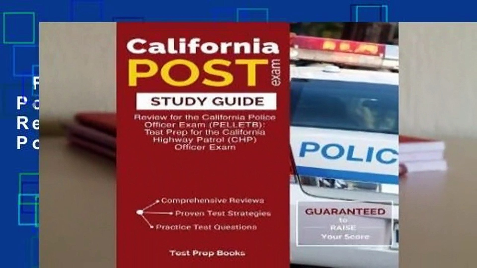 Full version  California Post Exam Study Guide: Review for the California Police Officer Exam