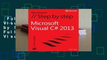 Full E-book  Microsoft Visual C# 2013 Step by Step Complete   Full version  Microsoft Visual C#