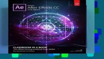 Adobe After Effects CC Classroom in a Book (2018 release) (Classroom in a Book (Adobe))  Best