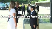 Trump gets royal treatment on Japan emperor visit