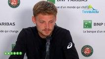 Roland-Garros 2019 - David Goffin s'est (enfin) rassuré lors de son 1er tour dimanche à Roland-Garros