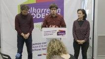 Rueda de prensa de Elkarrekin Podemos en Bilbao