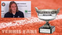 """Stefanos Tsitsipas """"I practice on clay probably more than Nadal"""" - Roland Garros 2019 (HD)"""