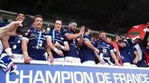 Les rugbymen bayonnais champions de France de ProD2