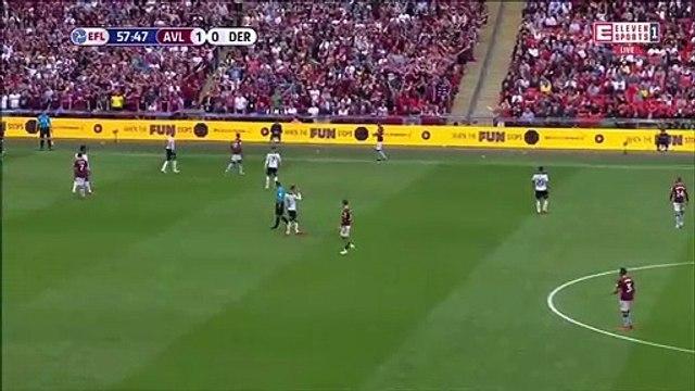 Aston Villa 2-0 Derby County - John McGinn controversial goal