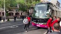 Deportivo-Mallorca  Llegada del Mallorca a Riazor