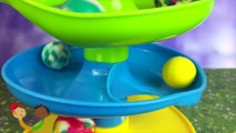 Let's learn colors with fun colorful balls - fun exciting slow motion action while teaching fun
