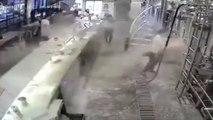 Cet employé va faire la bêtise de la journée : inondation de bière après avoir ouvert une cuve !