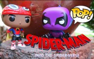 MARVEL SPIDERMAN MILES MORALES VS THE PROWLER ENTER THE SPIDERVERSE MOVIE FUNKO POP  REVIEW #SPIDERMAN FAR FROM HOME