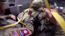Footage Paratrooper Participating in the All American Week 2019 Airborne Operation at North Carolina