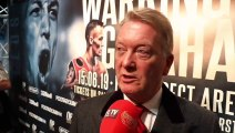 FRANK WARREN ON WARRINGTON-GALAHAD, KOVALEV-YARDE, TYSON FURY, SAUNDERS, WILDER TURNING DOWN DAZN